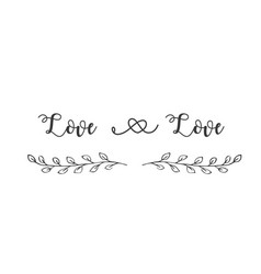 love and love grass background image vector image