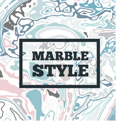 Marble ink background vector