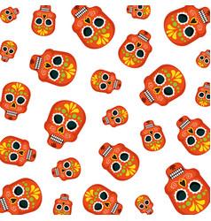 masks of the santa death pattern vector image
