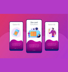 Mobile phones card app interface template vector
