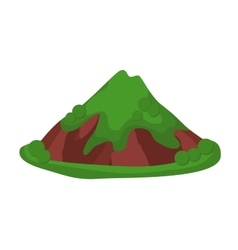 Mountain summer isolated vector image