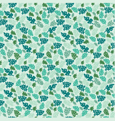 natural leaves pattern texture element on green vector image