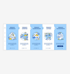 Personal brand components onboarding template vector