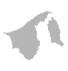 Pixel map of brunei darussalam dotted map of vector