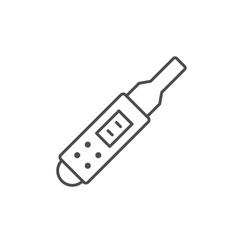 Pregnancy test line outline icon vector