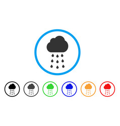 rain cloud rounded icon vector image