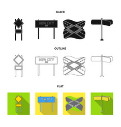 Road signs and other web icon in blackflat vector