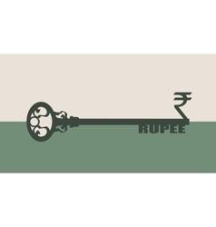 Rupee Symbol on key vector