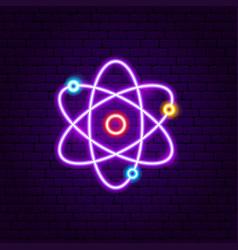 science neon label vector image