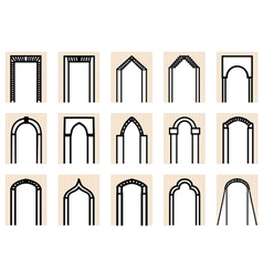 set of arches vector image