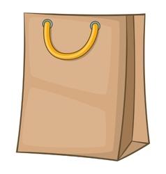 Shopping bag icon cartoon style vector