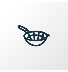 sieve icon line symbol premium quality isolated vector image