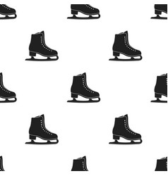 Skates icon black single sport icon from the big vector
