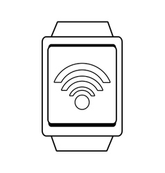 Square watch and wireless icon graphic vector