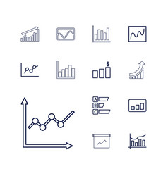 statistic icons vector image