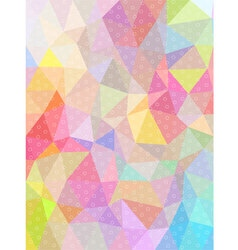 Sweet color triangle and circle texture background vector