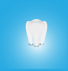 teeth on blue background vector image