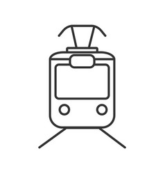 Tram linear icon vector