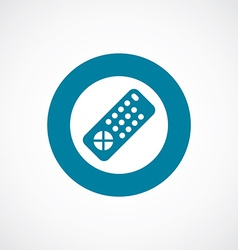Tv remote icon bold blue circle border vector