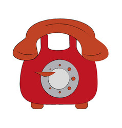 vintage telephone symbol vector image