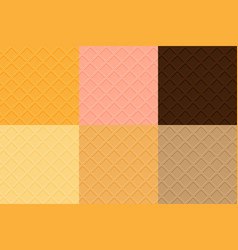 waffles seamless texture collection chocolate vector image