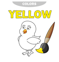 yellow learn the color of primary vector image