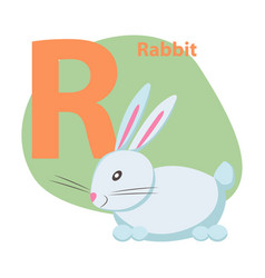 zoo abc letter with cute rabbit cartoon vector image
