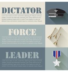 flat military soldier equipment set design concept vector image