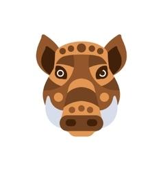 Wart Hog African Animals Stylized Geometric Head vector image