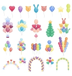 Balloons set collection vector image