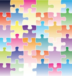 colorful puzzle background vector image vector image