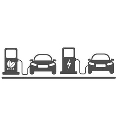 electric car in refill icon vector image