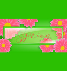 glass frame with lettering vector image