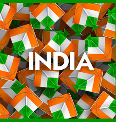 indian background with tricolor kites for 26t vector image vector image