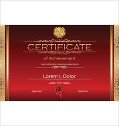 Luxury certificate template vector image