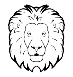 black and white of lion vector image