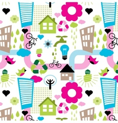 colorful eco pattern vector image vector image