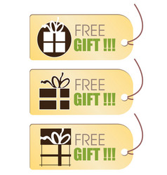 Free gift tag vector image