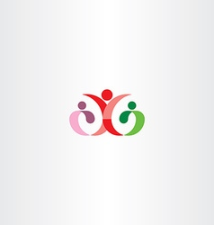Mother with child logo sign vector