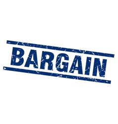 Square grunge blue bargain stamp vector