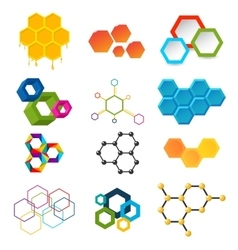 Different honeycombs set vector image vector image