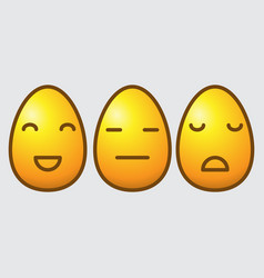 easter egg emoticons vector image