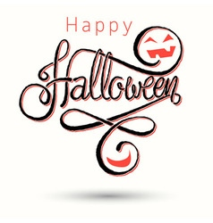 halloween card light red vector image