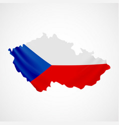hanging czech flag in form of map czech republic vector image vector image