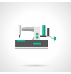 Homemade sewing flat color icon vector