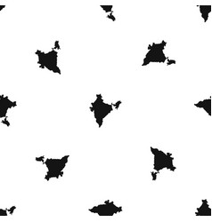 Indian map pattern seamless black vector