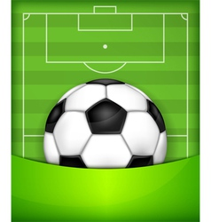 playing field ball green background soccer 10 v vector image