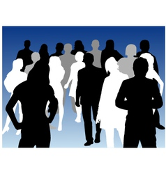 silhouette person vector image vector image