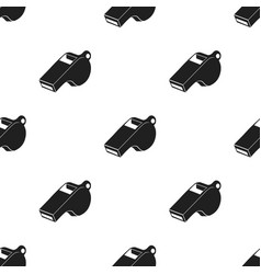 whistle icon black single sport icon from the big vector image