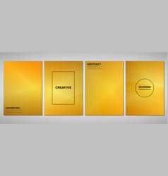 abstract golden gradient brochure of modern vector image